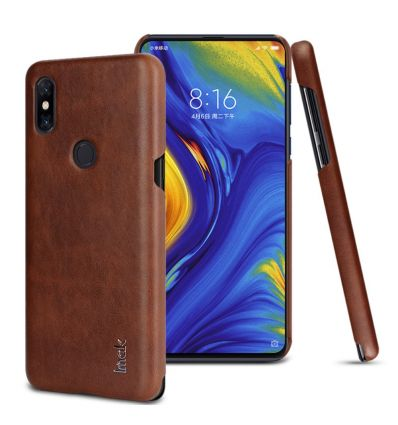 Xiaomi Mi Mix 3 - Coque imak imitation cuir - Marron