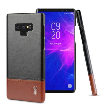Samsung Galaxy Note 9 - Coque imak imitation cuir - Noir / Marron