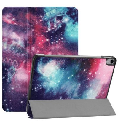 iPad Pro 12.9 2018 - Coque avec rabat intelligent motif galaxie