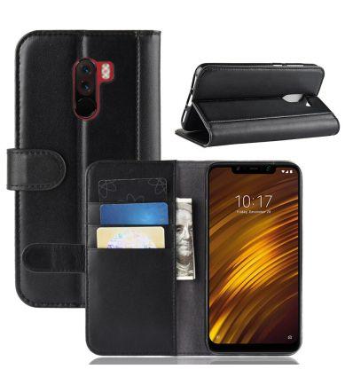 Étui Xiaomi Pocophone F1 en cuir premium porte cartes