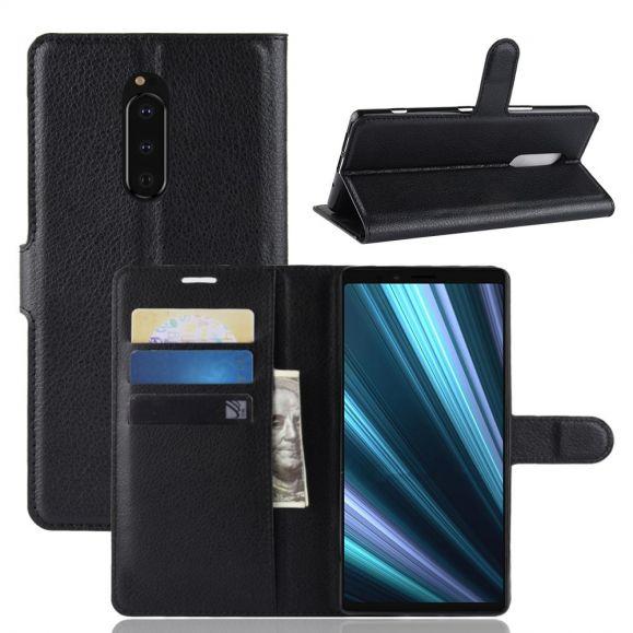 Sony Xperia 1 - Étui style cuir porte cartes
