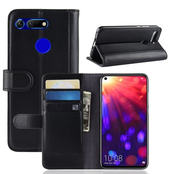 Honor View 20 - Étui en cuir premium porte cartes