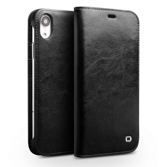 iPhone XR - Etui fait main en cuir véritable