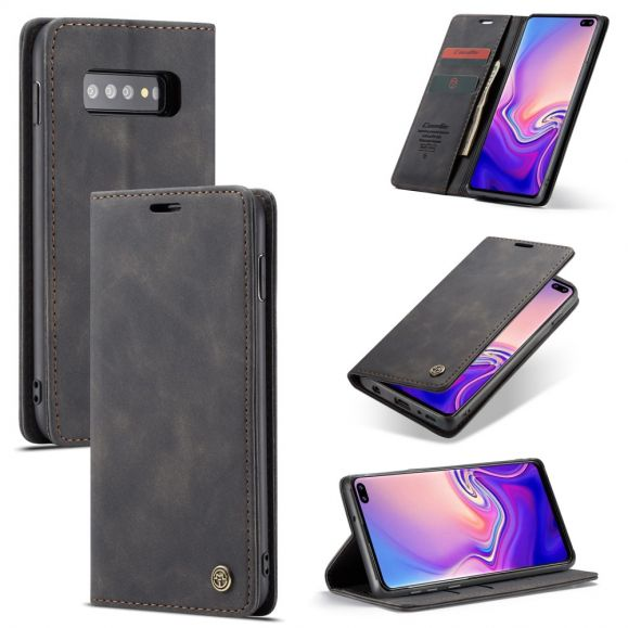 Samsung Galaxy S10 - Etui imitation cuir premium