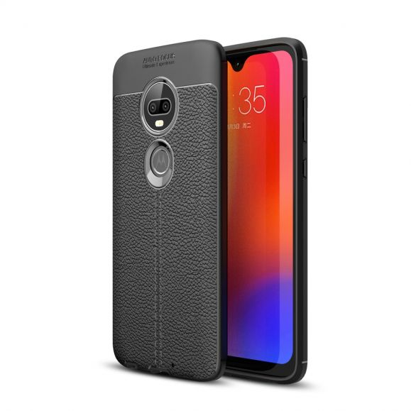 Motorola Moto G7 - Coque gel finition simili cuir
