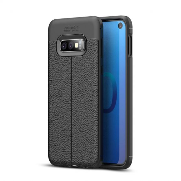 Samsung Galaxy S10e - Coque gel finition simili cuir