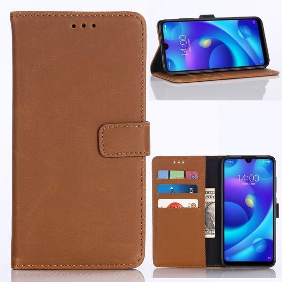 Xiaomi Mi Play - Étui en simili cuir rétro porte cartes