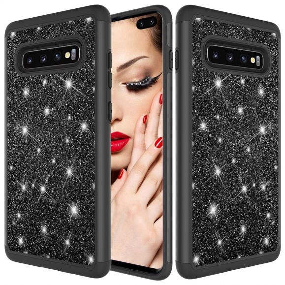 Samsung Galaxy S10 Plus - Coque paillettes La Delphine antichoc