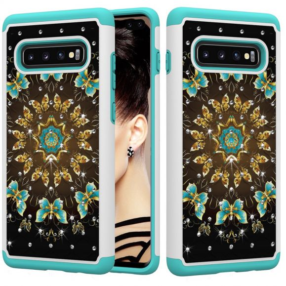Samsung Galaxy S10 Plus - Coque Luxury multiples papillons