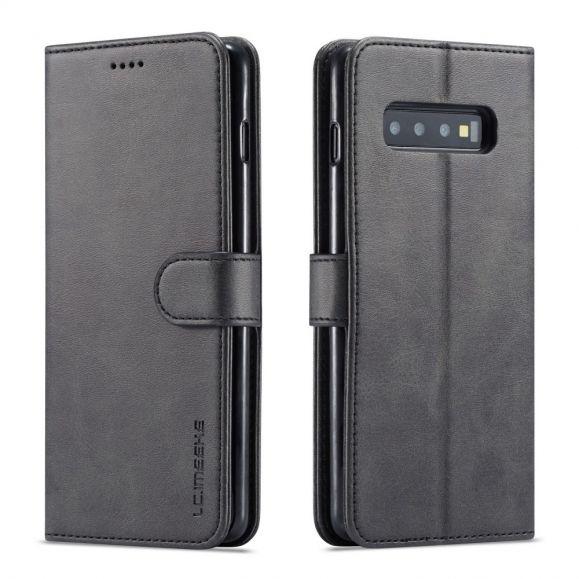 Samsung Galaxy S10 Plus - Etui en cuir style portefeuille