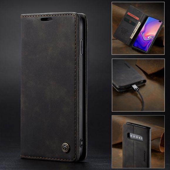 Samsung Galaxy S10 Plus - Etui imitation cuir premium