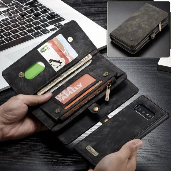 Samsung Galaxy S10e - Coque et étui portefeuille 2-en-1