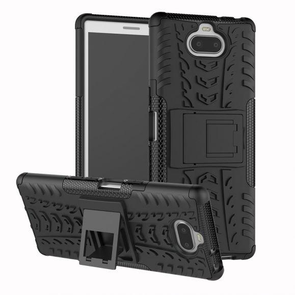 Sony Xperia 10 - Coque antidérapante avec support intégré