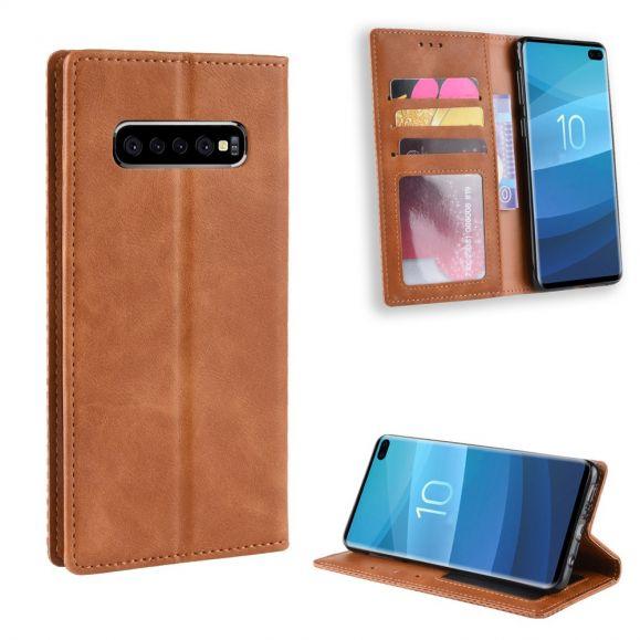 Samsung Galaxy S10 Plus - Étui style cuir Le Cirénius