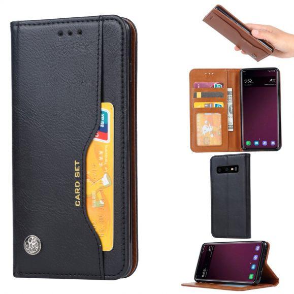 Samsung Galaxy S10 Plus - Étui cuir stand case