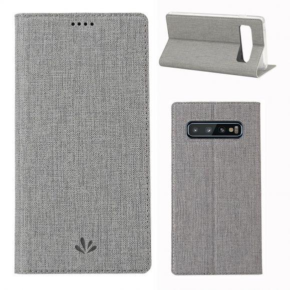 Samsung Galaxy S10 Plus - Etui texturé croisillons support