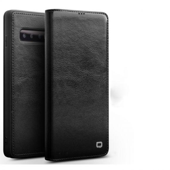 Samsung Galaxy S10 Plus - Etui fait main en cuir véritable