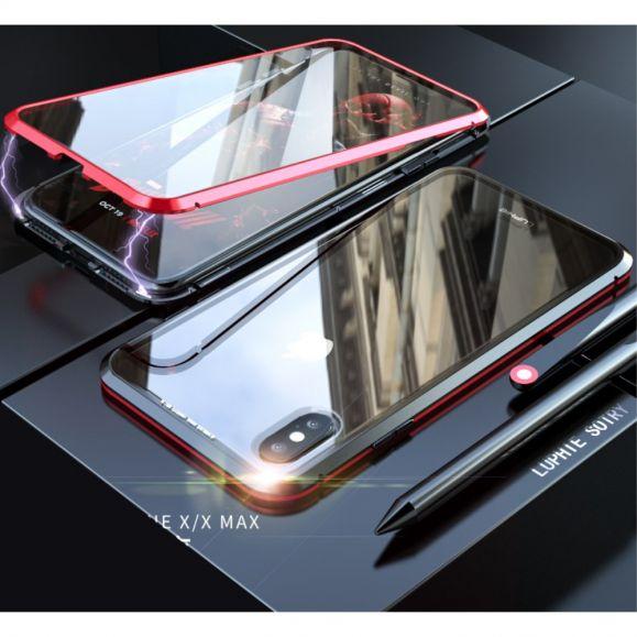 iPhone XS Max - Coque intégrale 360 degrés avec verre trempé