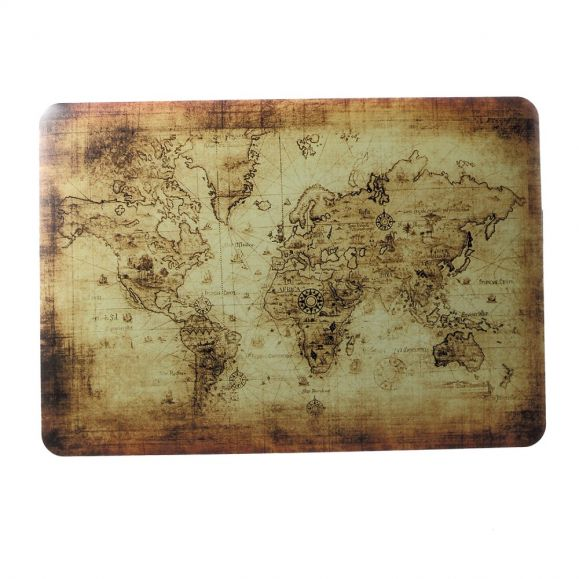 MacBook Air 13 pouces - Coque carte du monde vintage