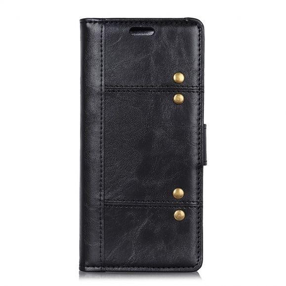 Sony Xperia L3 - Étui en cuir premium avec rivets