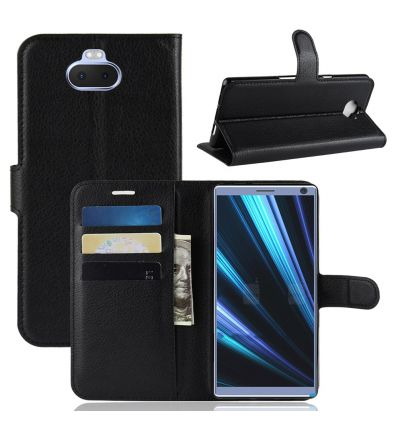 Sony Xperia 10 Plus - Étui style cuir porte cartes