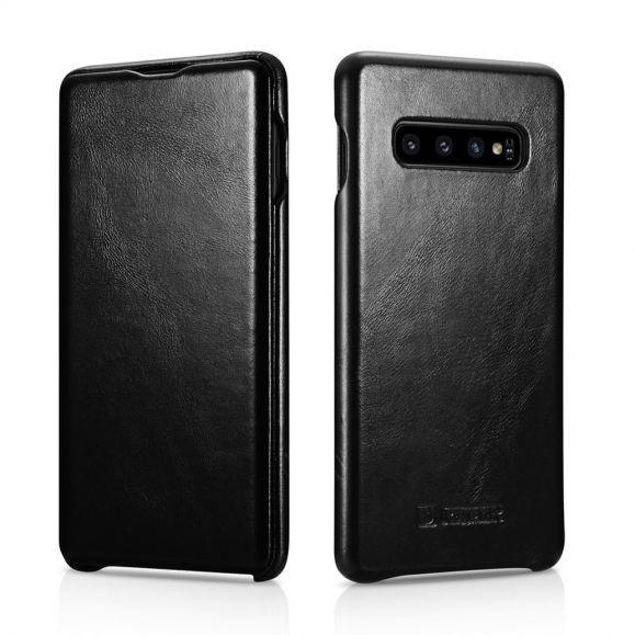 Samsung Galaxy S10 Plus - Étui cuir véritable vintage