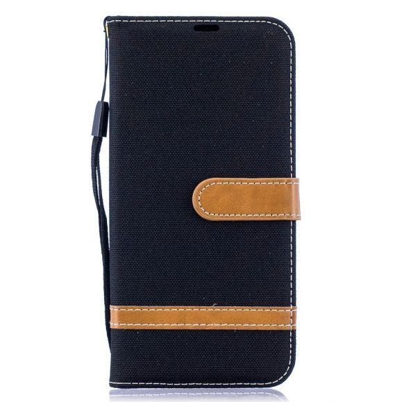 Samsung Galaxy A50 - Étui revêtement tissu porte-cartes