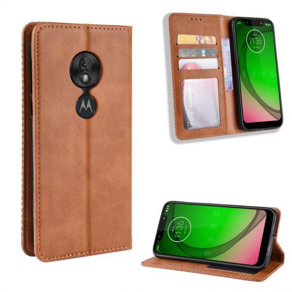 Motorola Moto G7 Play - Étui style cuir Le Cirénius