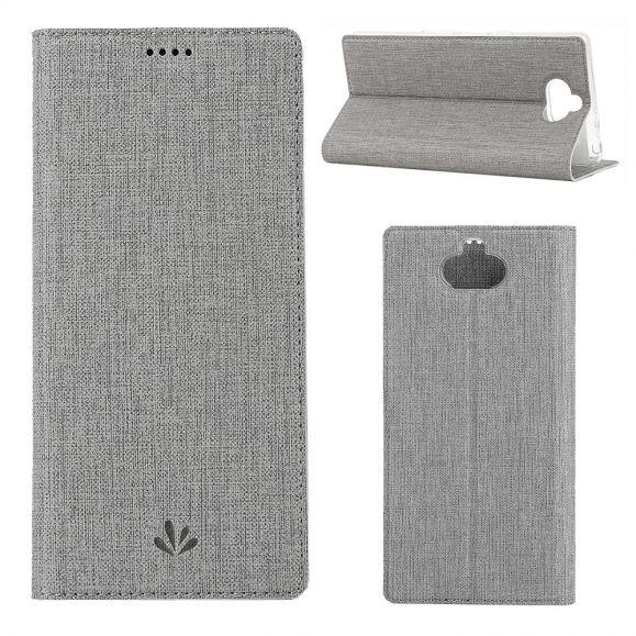 Sony Xperia 10 Plus - Etui texturé croisillons support