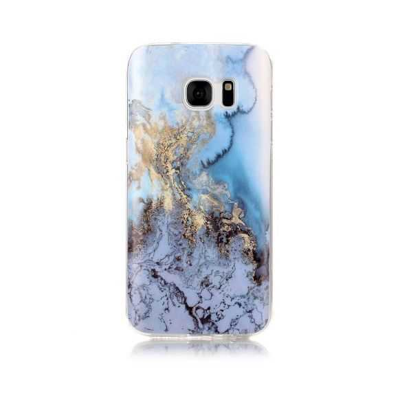 Coque Samsung Galaxy S7 Marbre - Bleu Clair