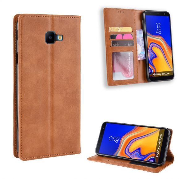 Samsung Galaxy J4 Plus - Étui porte cartes style cuir Le Cirénius