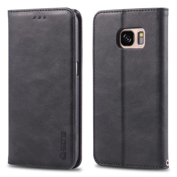 Samsung Galaxy S7 - Housse effet cuir rétro porte cartes