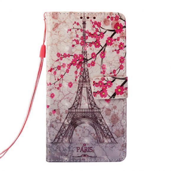 Samsung Galaxy S10 - Housse fleurs et Tour Eiffel