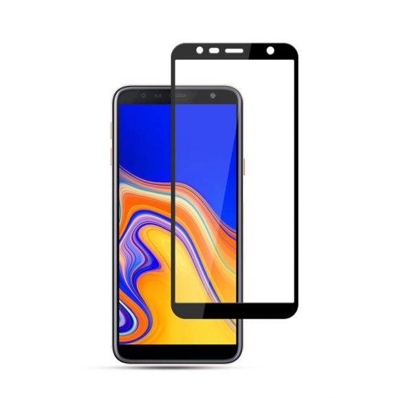Samsung Galaxy J4 Plus - Protection d'écran en verre trempé full size - Noir