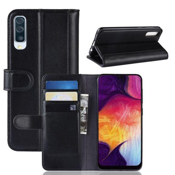 Samsung Galaxy A50 - Étui portefeuille en cuir premium