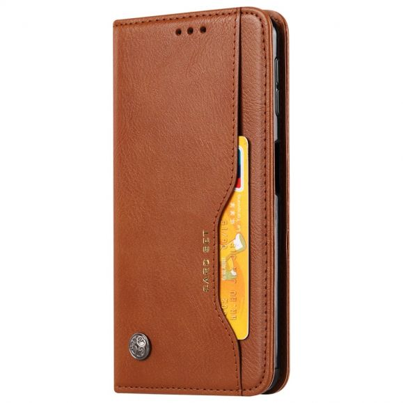Samsung Galaxy A50 - Housse porte cartes cuir stand case