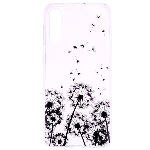 Samsung Galaxy A50 - Coque transparente motifs pissenlits