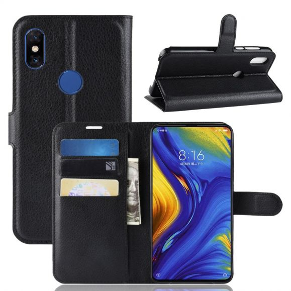 Xiaomi Mi Mix 3 - Étui style cuir porte cartes
