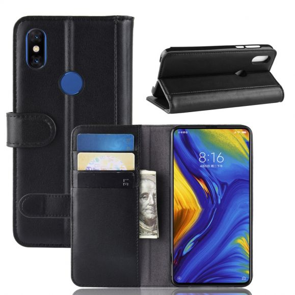 Xiaomi Mi Mix 3 - Étui portefeuille en cuir premium