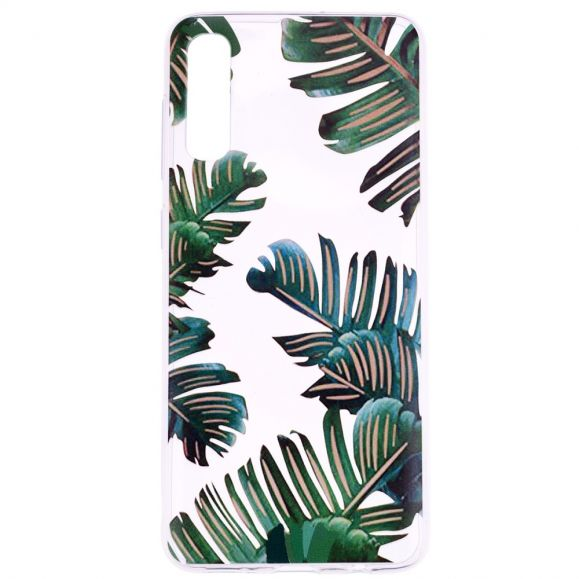 Samsung Galaxy A50 - Coque feuilles vertes
