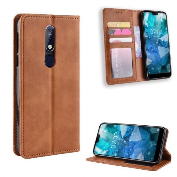 Nokia 7.1 - Étui style cuir Le Cirénius