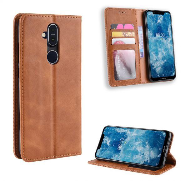 Nokia 8.1 - Étui style cuir Le Cirénius