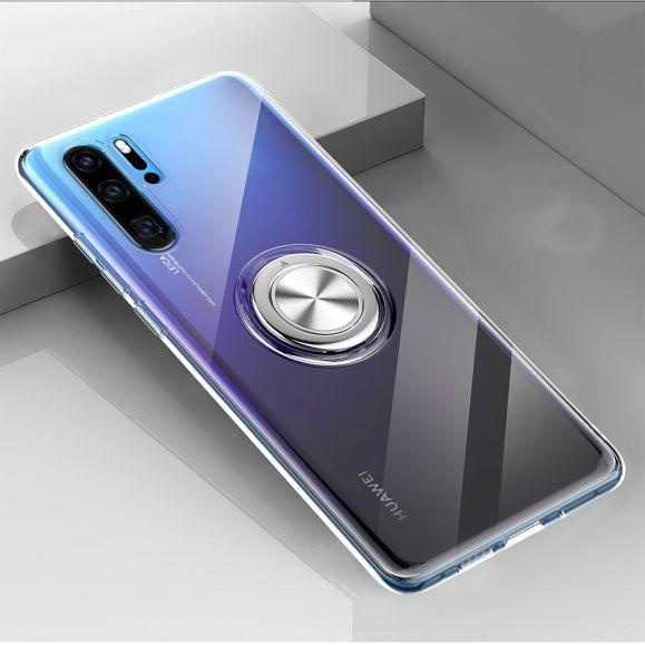 Huawei P30 Pro - Coque avec anneau magnétique - Transparente
