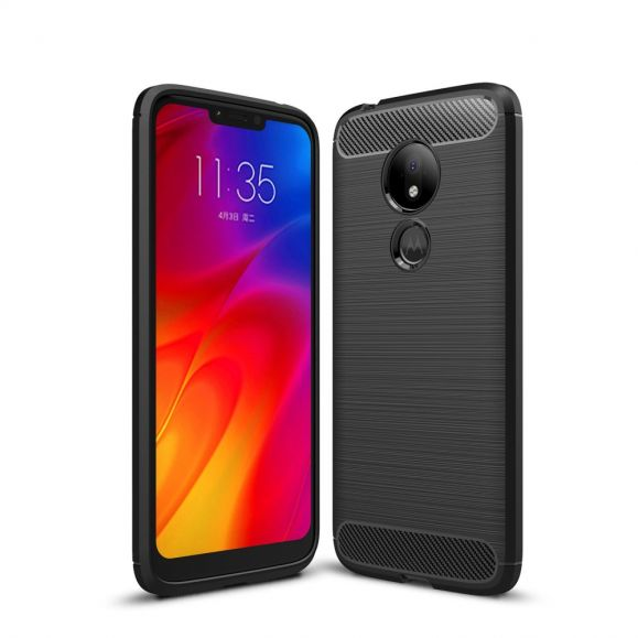 Motorola Moto G7 Power - Coque gel brossé carbone