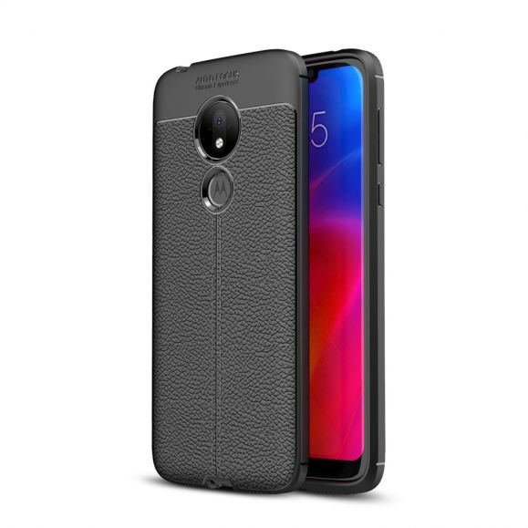 Motorola Moto G7 Power - Coque gel finition simili cuir