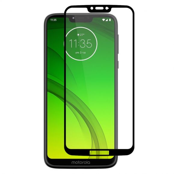 Motorola Moto G7 Power - Protection d'écran en verre trempé full size - Noir