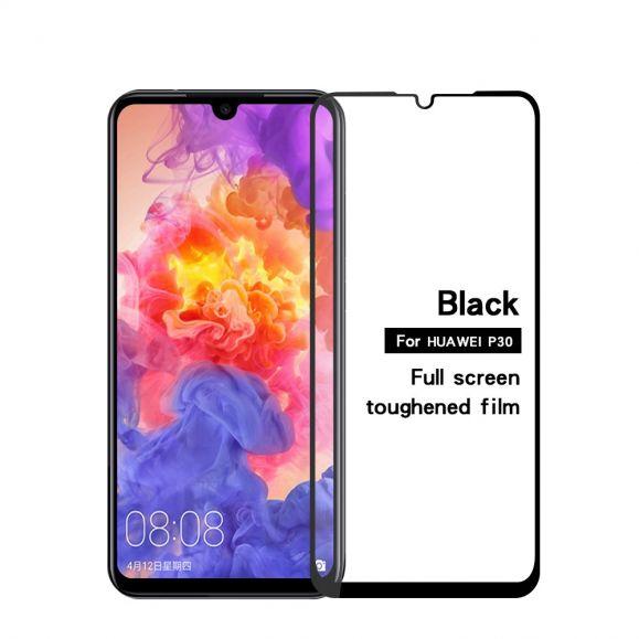 Huawei P30 - Protection d'écran en verre trempé full size - Noir