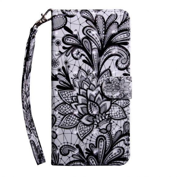 Samsung Galaxy A40 - Étui avec rabat Lace Flower