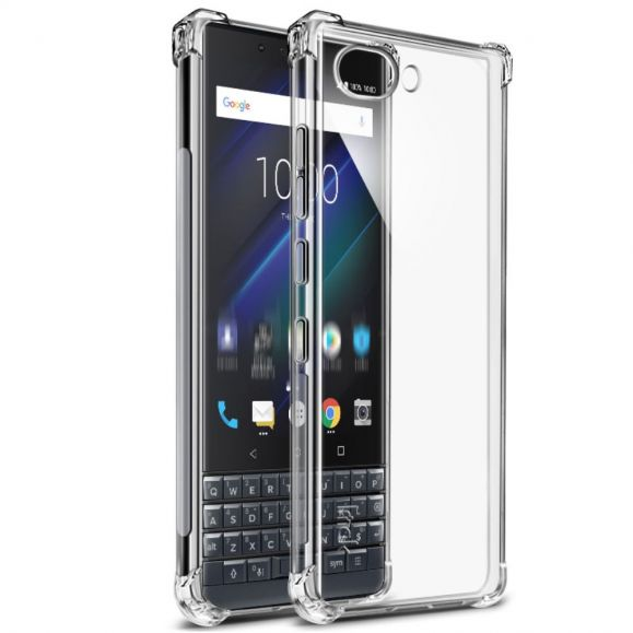 BlackBerry KEY2 LE - Coque transparente Class Protect + film protecteur
