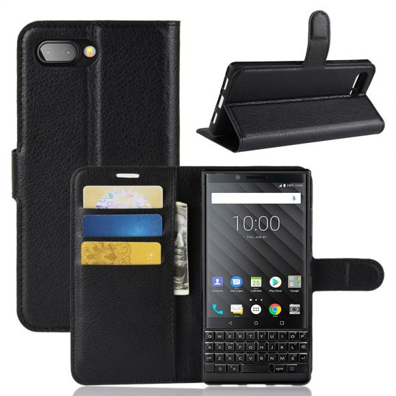 BlackBerry KEY2 - Étui style cuir porte cartes